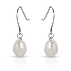 🆕 Genuine Freshwater Pearl Fish Hook Earrings